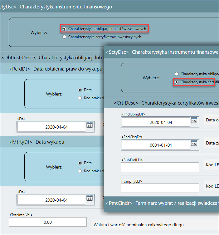 Komunikat KDPW umożliwia wybór elementów składowych